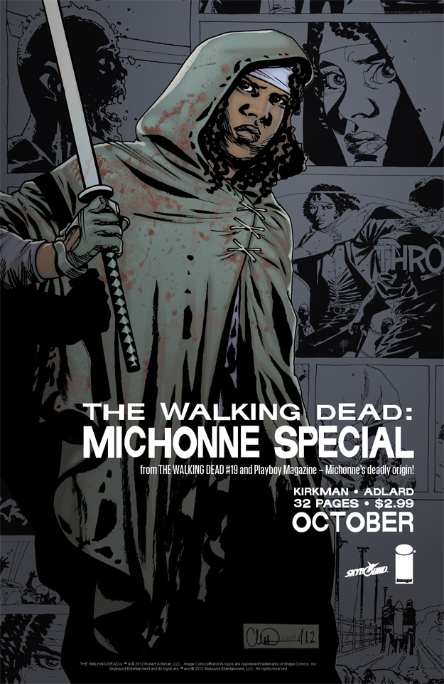 The Walking Dead Michonne Special ad