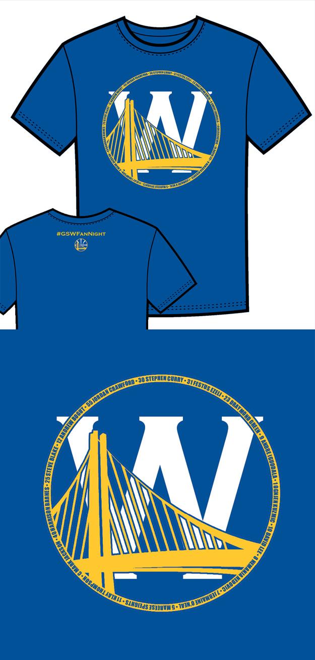 Warriors T-Shirt Idea – Bridge and W 2 (Blue)