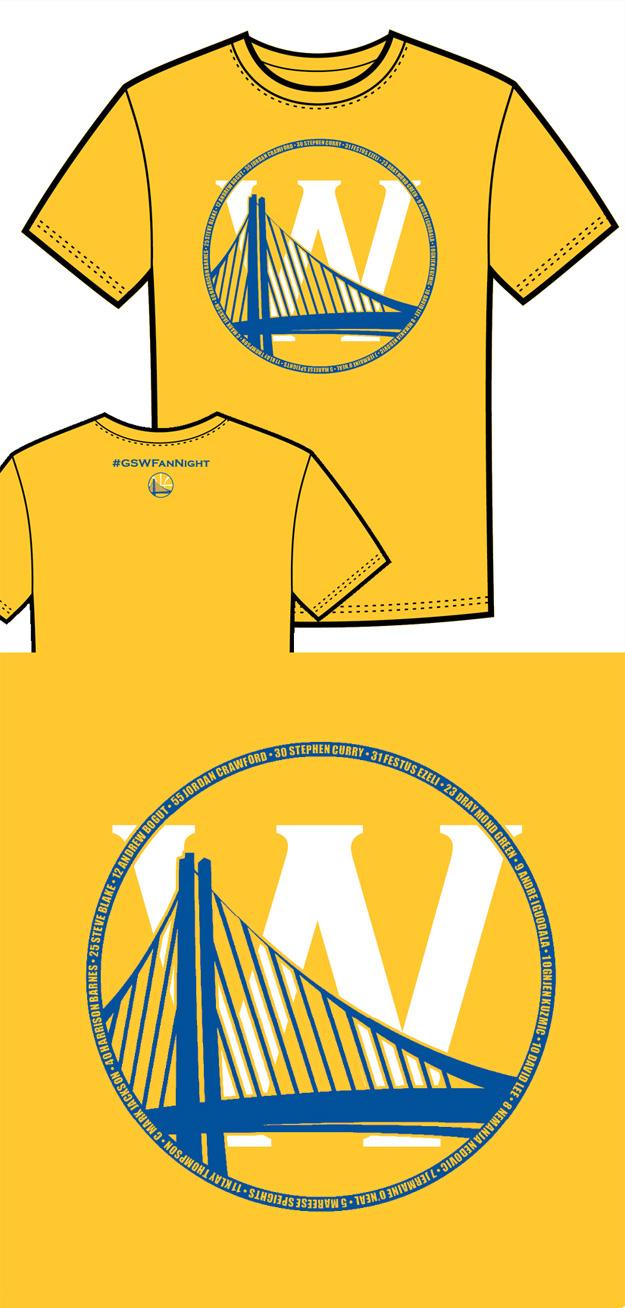 Warriors T-Shirt Idea – Bridge and W 2 (Yellow)