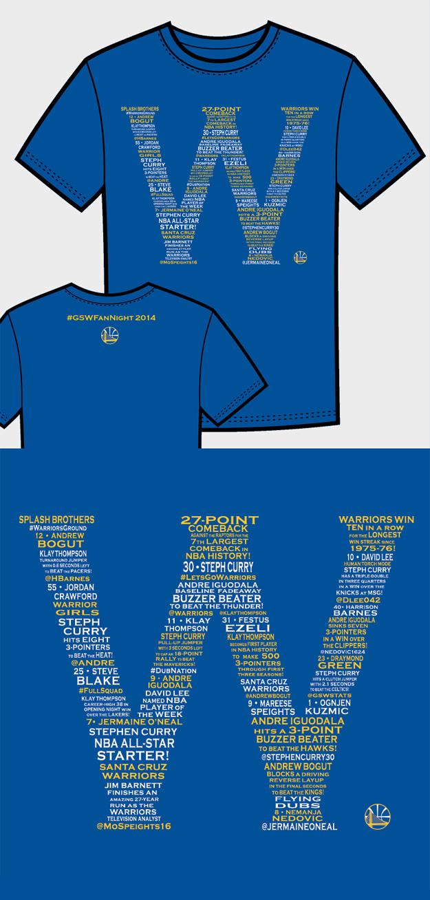 Warriors T-Shirt Idea – W 2014 Events