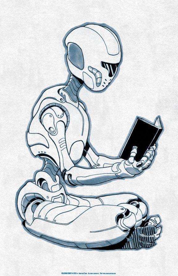 Reading Robot small print
