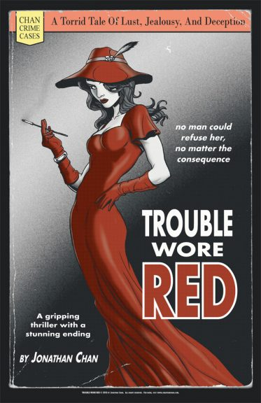 Trouble Wore Red big print