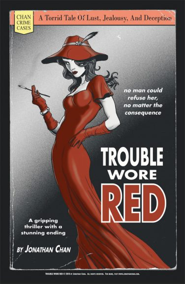 Trouble Wore Red small print