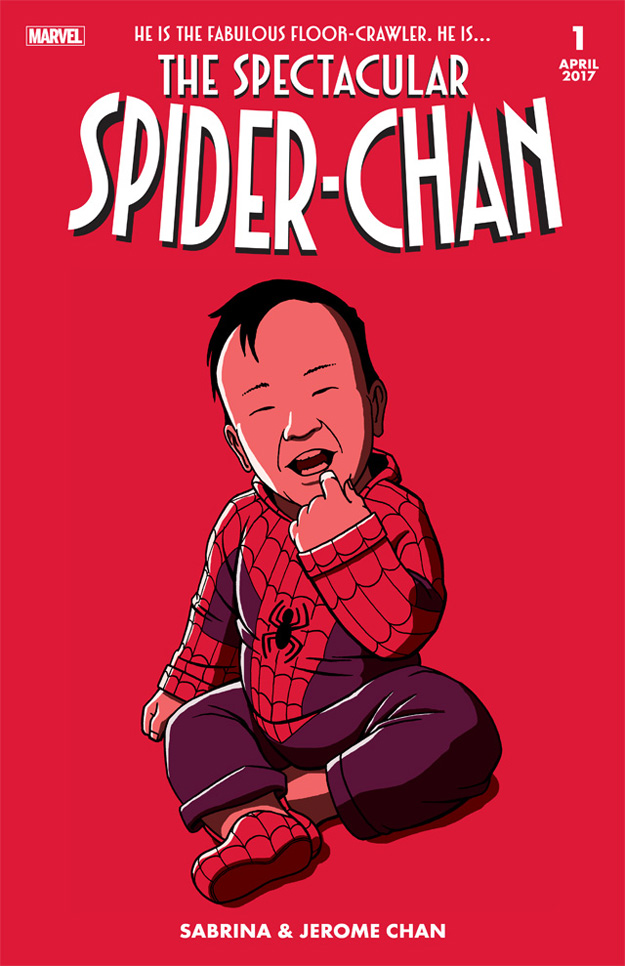 SpiderChan fake comic cover