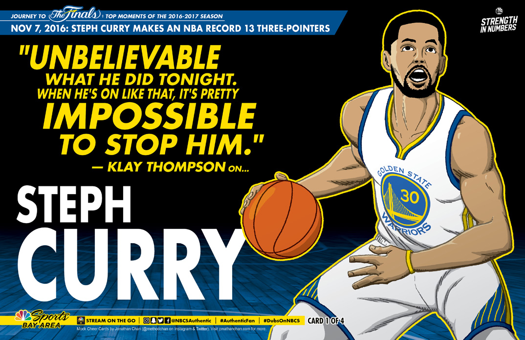 Custom Warriors Cheer Card: Steph Curry