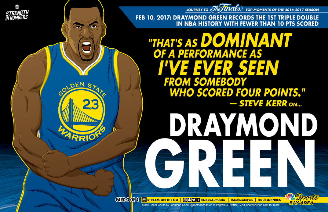 Custom Warriors Cheer Card: Draymond Green