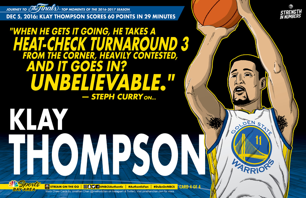 Custom Warriors Cheer Card: Klay Thompson