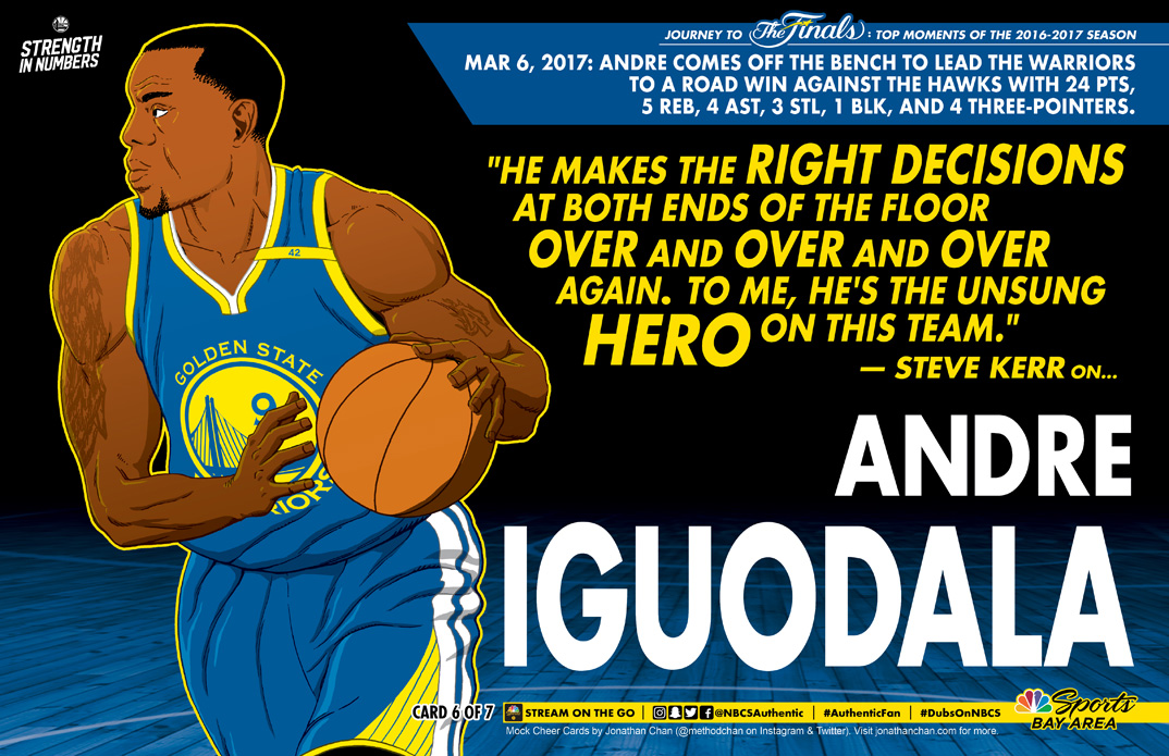 Custom Warriors Cheer Card: Andre Iguodala