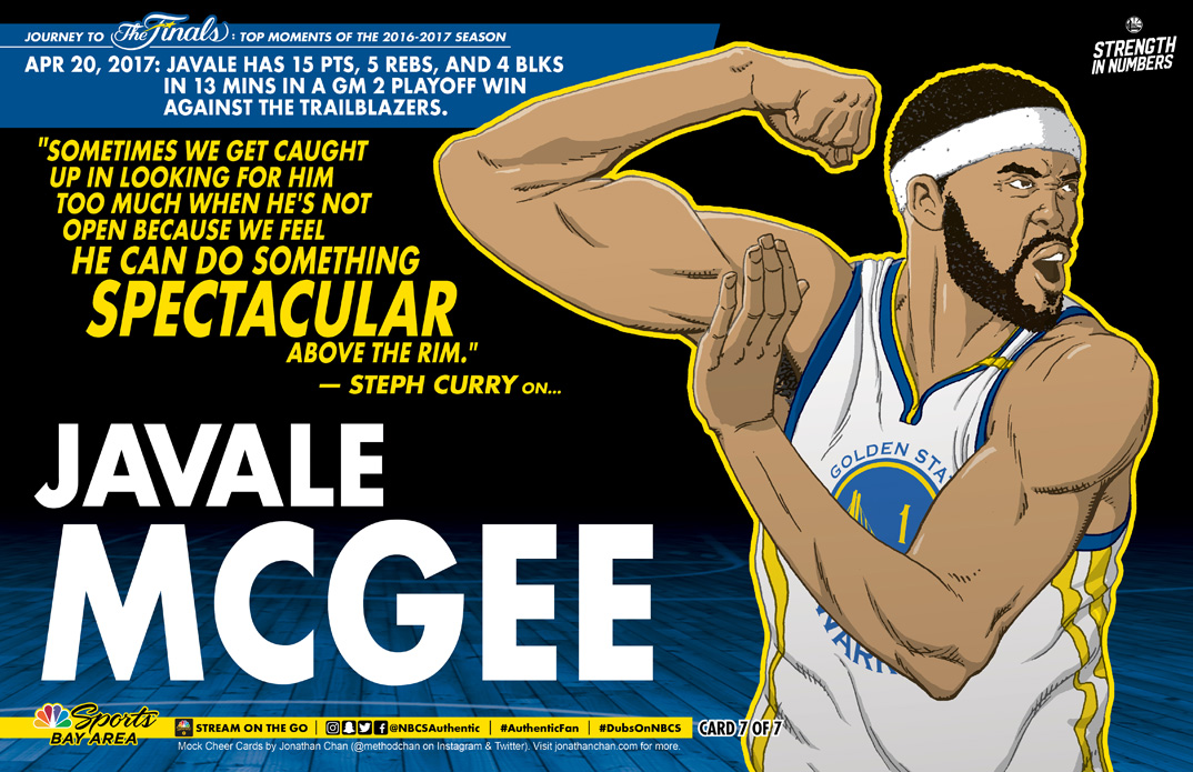 Custom Warriors Cheer Card: Javale McGee