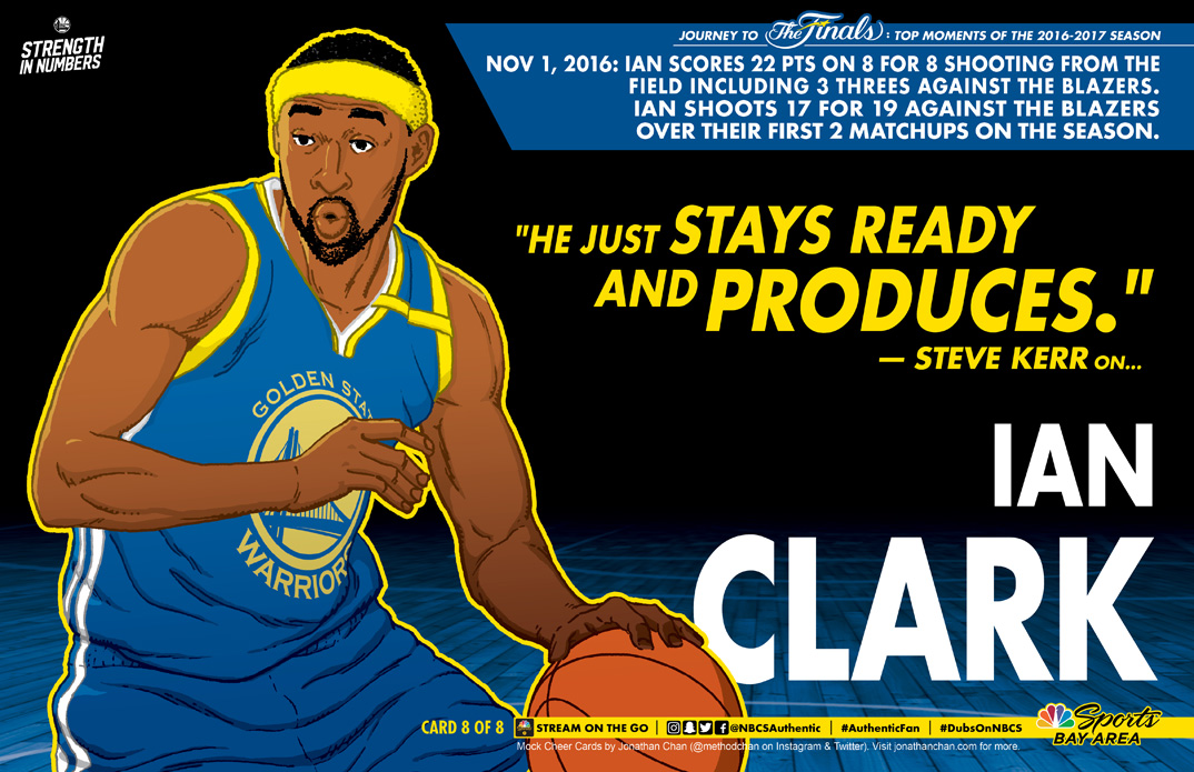 Custom Warriors Cheer Card: Ian Clark