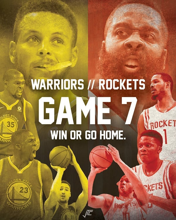 Game 7 – Warriors vs Rockets