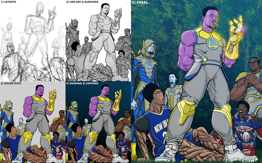 Steph Thanos Process Collage