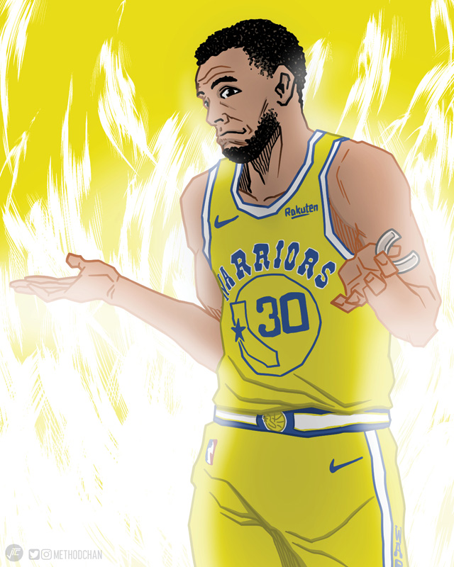 Steph On Fire Shrug